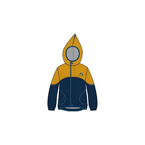 Finkid Aarre Colorblock-Blau-Gelb, Regenjacke, Größe 110-120 - Farbe Golden Yellow - Nautic