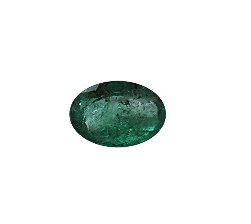 Jaipur Gems Mart 2.85Cts sfaccettato ovale forma di taglio Pezzo Rich Green buon lustro dello Zambia naturale smeraldo Panna pietra preziosa allentata Ring Jewelry 10.50 x 9 x 7,50 Cancella Emerald
