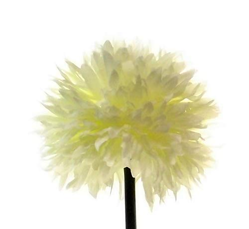 FS 4 x 43 cm artificial de un solo tallo marfil crisantemo/madre con flor grande – jardín hogar