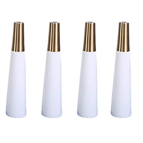 Tafelpoot, Eiken meubelpoten Conische tafelpoten 4 stuks Bureau Salontafel Sofa Messing voetdeksel 12cm-35cm-7.1in(18cm)
