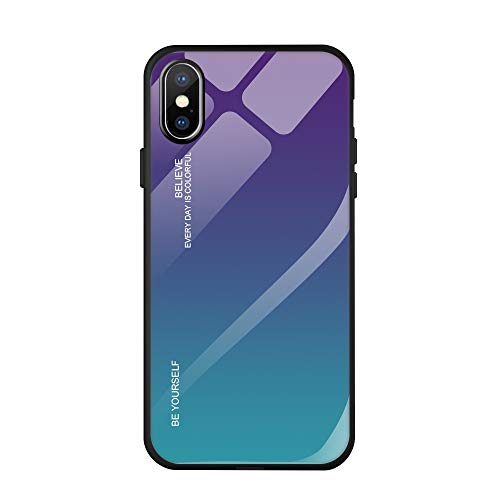 Suhctup Hülle Kompatibel mit Xiaomi Mi Mix 3 Hülle 9H Gehärtetem Marmor Glas Rückseite mit TPU Rahmen Schutzhülle Ultra Dünn Handyhülle Rahmen Hüllen [Stoßfest] Slim Kratzfest Shell Case