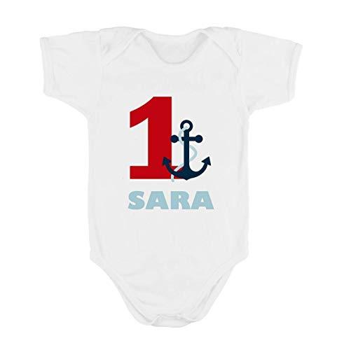 Body o Camiseta Primer / 1er Cumpleaños 1 año Marinero para Bebes ...
