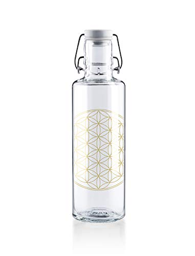 Soulbottle Flasche, Glas, Flower of Life, 0,6 Liter