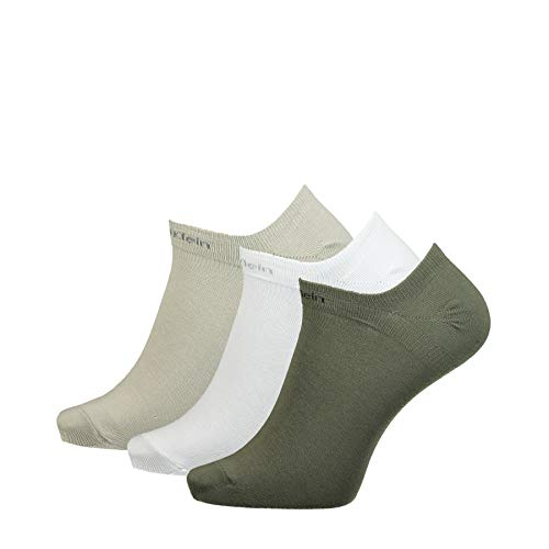Calvin Klein Socks Herren Sneakersocken Ecl376, 3er Pack, Black, 40/46 Calcetines, Combo...