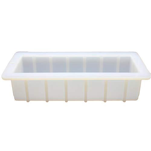 Marginf - Separadores de molde de silicona para jabón (1,5 L, con partición de acrílico, rectangular), a prueba de moho