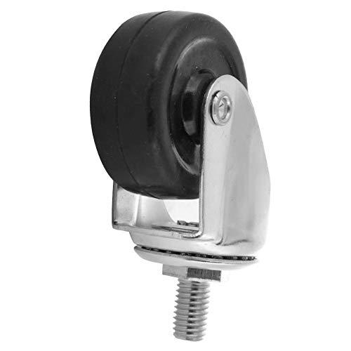 Rueda giratoria silenciosa de 2 pulgadas, rueda giratoria con amortiguación de golpes de 360 grados, accesorio de carro con ruedas para muebles de comedor
