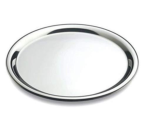 DEL–Serviertablett rund–Edelstahl, Stahl, silber, Durchmesser: 40 cm