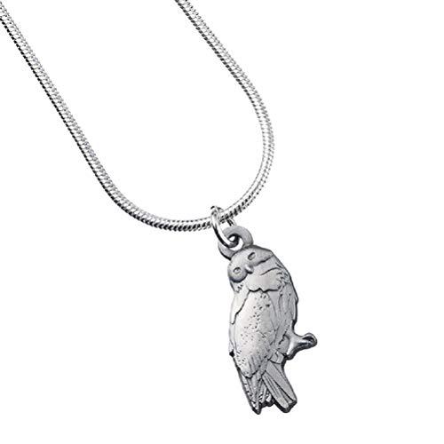 HARRY POTTER Producto Oficial bañado en Plata Hedwig lámpara de Techo Collar...