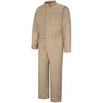 Bulwark Men s Big & Tall Flame Resistant 4.5 oz Nomex IIIA Classic Coverall with Hemmed Sleeves Tan 48 Long