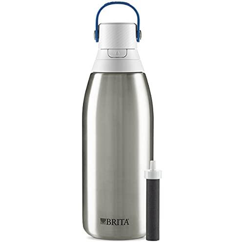 Brita Stainless Steel Water Filter Bottle,...