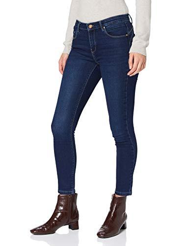 Only ONLDAISY Life REG PUHUP SK ANK BB PIM07 Jeans, Bleu foncé Denim, 30W x 32L Femme