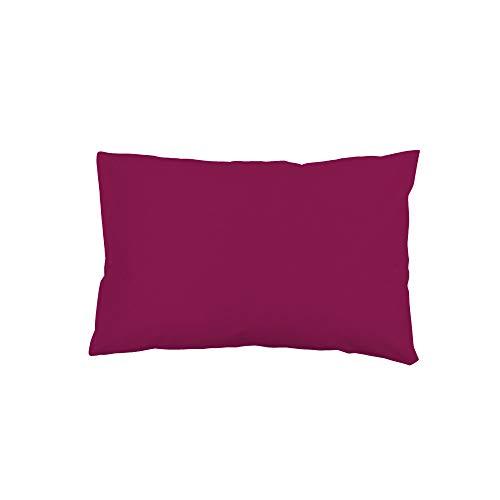 Soleil docre Funda de Almohada Lisa de algodón US 50x70 cm Grosella