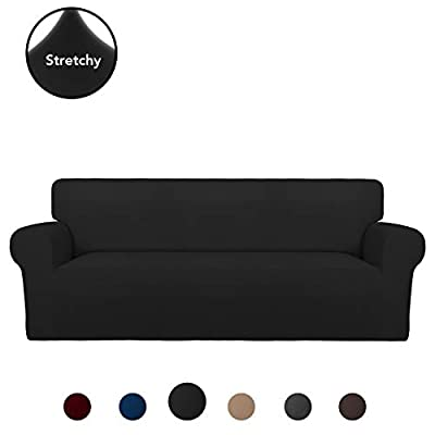 PureFit Super Stretch Chair Sofa Slipcover ? Spandex Non Slip Soft Couch Sofa Cover, Washable Furniture Protector with Non Skid Foam and Elastic Bottom for Kids