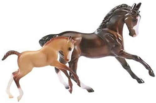 Breyer Stablemates 5924 Horse & Foal Set - Sport Horse and Foal by Breyer