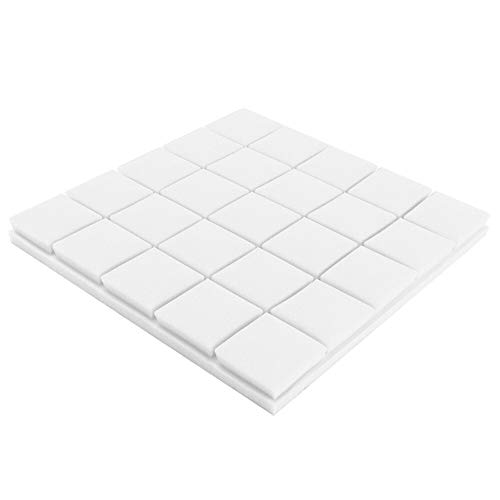 Akustikschaum-Panel Schall Foam Wedge Studio KTV Wand Echoes Absorption Musikinstrumententeile (Color : White)