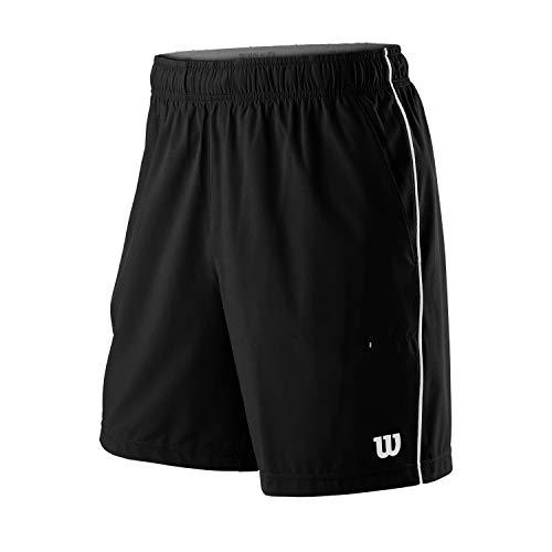 Wilson Hombre, M COMPETITION 8 SHORT, Pantalón corto de tenis, Poliéster/Elastano, Negro, Talla XL, WRA773805