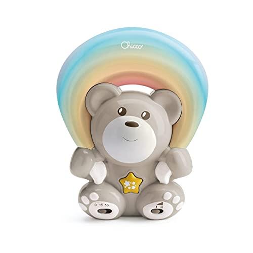 Chicco Osito Arcoiris , Proyector Infantil Con Luces y Melodías Para Bebés, Proyección Personalizable de Arcoíris, Ideal Regalo Recién Nacido, Osito Color Beige