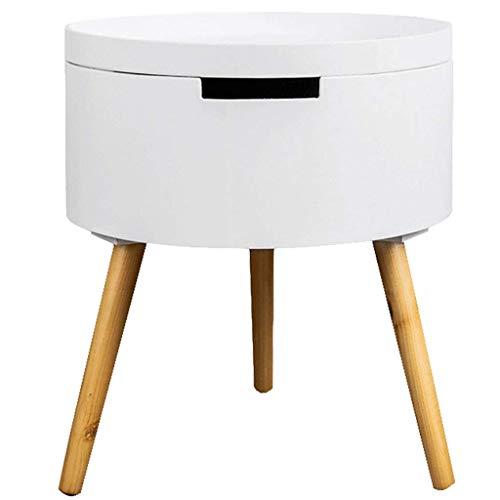YLCJ Kleine salontafel verwijderbaar Scandinavische kant Canap Bijzettafel Slaapkamer Bedkant luie ronde tafel