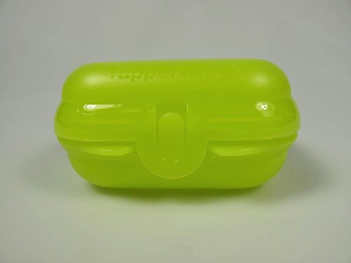 TUPPERWARE To Go Mini-Twin limette Brotdose Box Behälter Kindi MiniTwin Größe 1 15507