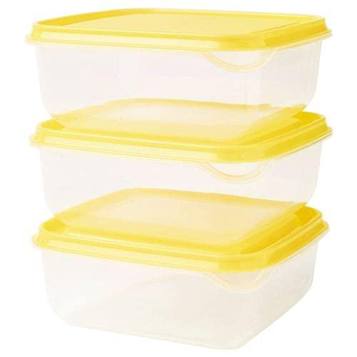 Ikea Pruta Aufbewahrungsbehälter, Gelb, 3 Stück