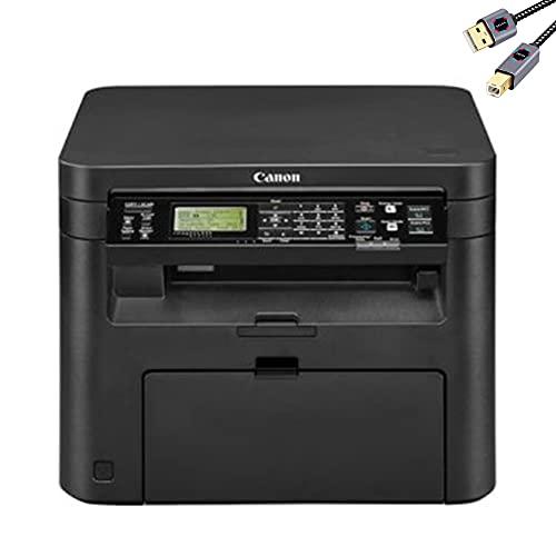 Premium Canon ImageClass MF200w Series All in One Wireless Monochrome Laser Printer I Print Copy Scan I WiFi Direct I Mobile Printing I 600 x 600 dpi I 24 PPM I 250 Sheet/Tray + Delca Printer Cable
