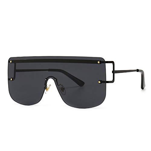 Gafas De Sol Gafas De Sol Graduadas De Lujo para Mujer, Gafas De Sol De Una Pieza De Marca Vintage De Moda, Montura De Gran Tamaño Sin Montura, Sombras Femeninas Uv400 C1