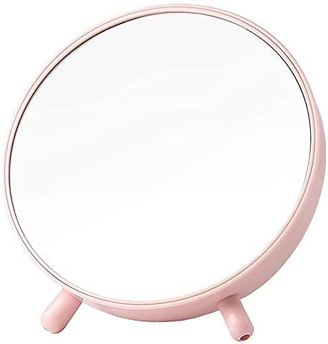 LYQQQQ Creatividad vanidad multifunción plástico Almacenamiento Espejo Estudiante Dormitorio Espejo Caja de Almacenamiento Espejo Escritorio Maquillaje decoración Espejo
