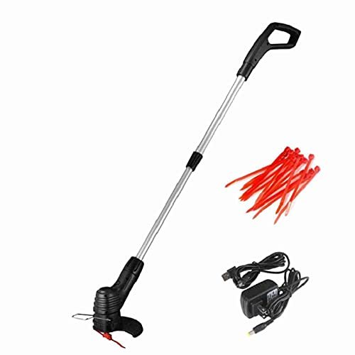 MIni Cordless Grass Trimmer with 20 Blades, Adjustable Telescopic Long Handle, Lightweight, Handheld Strimmer, Cordless Rechargeable Garden Tool for Newborn Grass