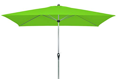doppler Aluminium Sonnenschirm SL-AZ 220x140 - Rechteckiger Kurbelschirm - Modernes Design - Starker UV-Schutz - 220x140 cm - Frech Green
