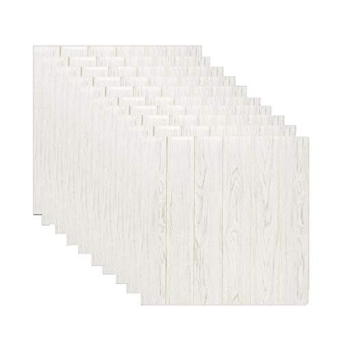 10 piezas de papel tapiz, panel de pared autoadhesivo 3D, imitación de...