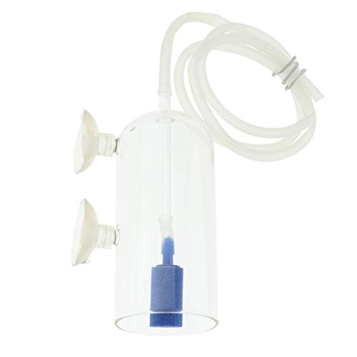 KESOTO Aquarium Glas Luftdiffusor CO2 Diffusor mit Sauerstoffstein und Schlauch für Aquarienpflanzen