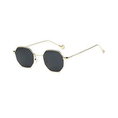 Gafas de sol deportivas, gafas de sol vintage, NEW Women Hexagon Sunglasses Retro Vintage Clear Sun Glasses For Men Luxury Metal Eyewear Octagon Shades Lunette 1
