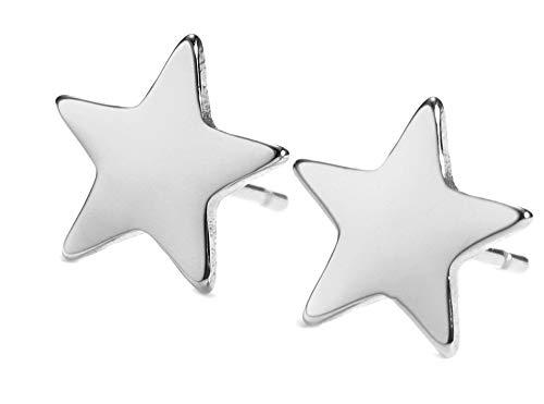 KKJOY Orecchini a perno in acciaio inossidabile, a forma di stella, luna, nuvola, orecchio gioielli per le donne ragazze adolescenti