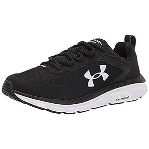 Under Armour Men's Charged Assert 9 CN Running Shoe, Black (001)/White, 11