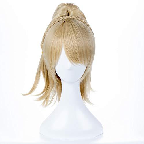 FF15 Final Fantasy XV Lunafreya Nox Fleuret princesa Luna corto rubio claro Cosplay disfraz peluca fibra resistente al calor + gorro de peluca