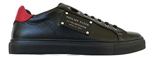 PHILIPP PLEIN - Zapatillas de Cuero para Hombre Negro