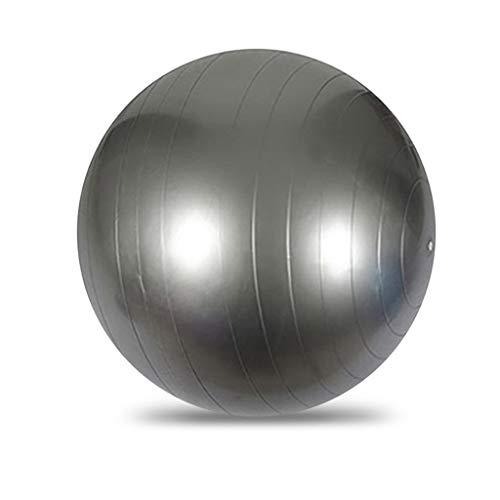 SUSHUN Pelota de ejercicio para fitness, estabilidad, equilibrio, yoga, entrenamiento, diseño de bomba rápida, color plateado