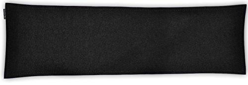 SIMON PIKE Bankkissen Kissen 100 x 40 cm Wollfilz schwarz