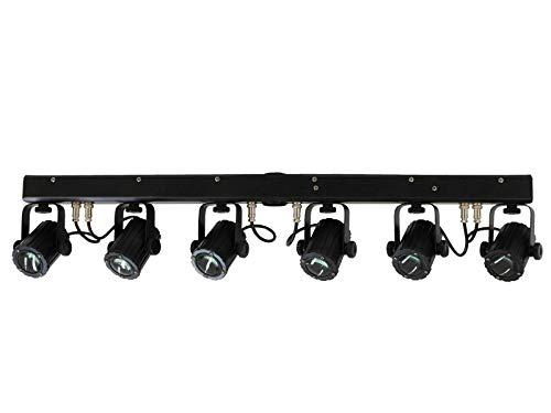 Eurolite LED SCY-Bar TCL Lichtset | Komplette Lichtanlage bestehend aus 6 LED-Spots und einem Querträger mit integrierter DMX-Steuereinheit | Vormontiert in praktischer Tragetasche