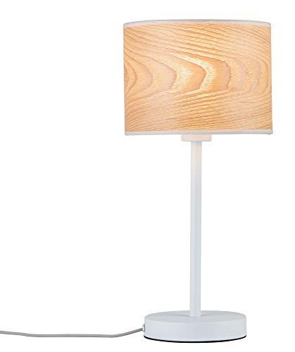 Paulmann 79638 Neordic Neta Tischleuchte max. 1x20W Tischlampe für E27 Lampen Nachttischlampe Weiß 230V Holz/Metall ohne Leuchtmittel