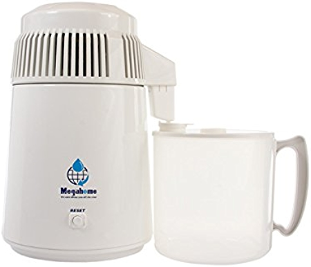 Megahome Water Distiller, White Enamel, Plastic Collection Review