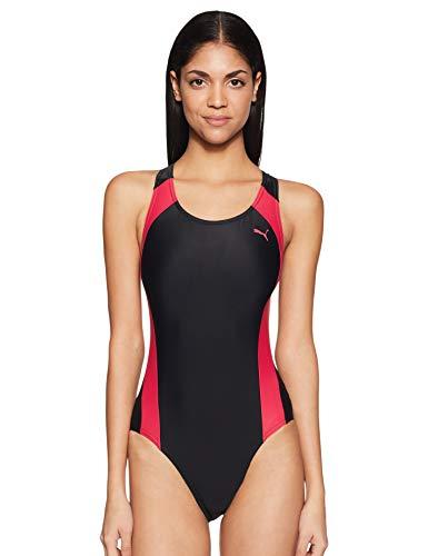 PUMA Damen Badeanzug Active Cat Logo Swim Suit W, Rose Red, S