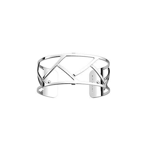 Les Georgettes Bracelet pour femme – Les Essentielles Tresse Tresse – Medium – Couleur : argent – Largeur du bracelet : 25 mm