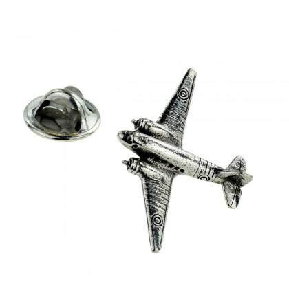 Ashton en Finch Douglas Dakota C47 Vliegtuig Pewter Lapel Pin Badge
