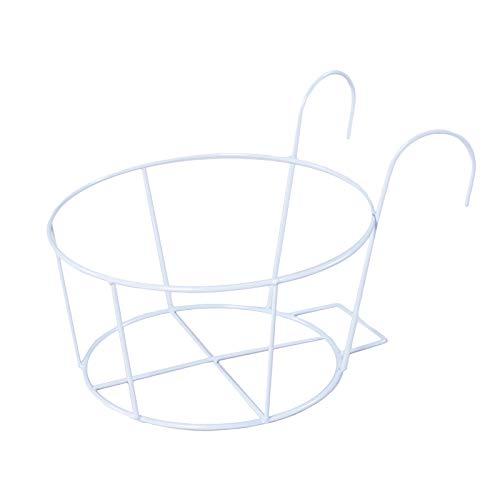 Soporte para plantas Hansensi, de metal, creativo, soporte para macetas, 1 o 3 unidades, estantería de jardín, soporte para flores, para interiores y exteriores, color blanco