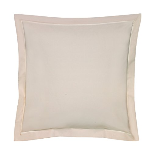Blanc des Vosges Uni 57 Fils Taie, Coton, Ivoire, 65x65 cm
