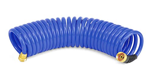 HoseCoil 3/8 inch Self Coiling Garden, RV, Outdoor Water Hose (15.00, Blue)