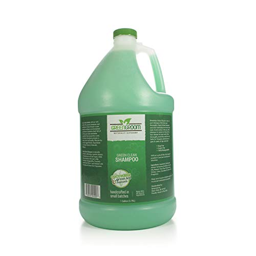 Green Groom Green Clean Dog Shampoo, 1 Gallon - All Natural Ingredients, Antioxidant Rich, 50:1 Concentration, Professional Grade Grooming Shampoo, Cucumber and Green Tea Scent
