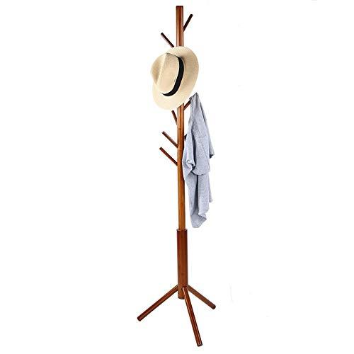 A sixx Perchero, 6 Ganchos Ropa Moderna para árboles de bambú Perchero Perchero de pie Bolso de Mano Bufandas Percha para Entrada de la Oficina en el hogar Dormitorio Sala de Estar