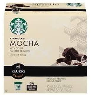 Starbucks Mocha Flavored Coffee Keurig K-cups 16 Ct (Pack of 2)